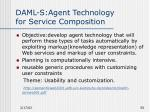 daml s agent technology for service composition