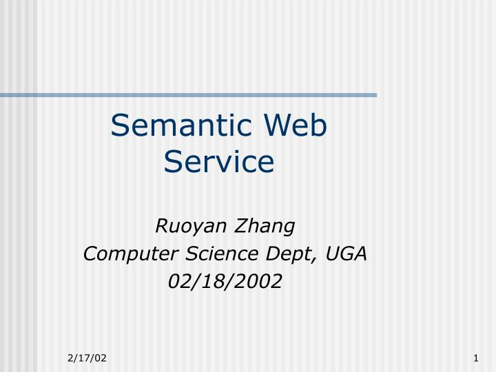 semantic web service n.