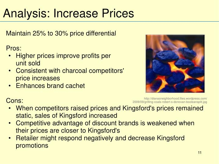Maintain 25% to 30% price differential