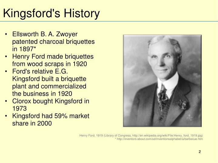Kingsford s history