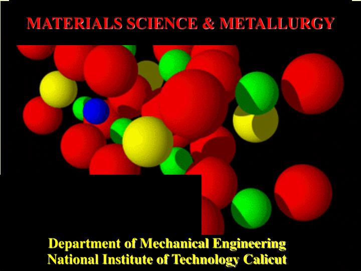 materials science metallurgy n.