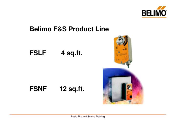 Belimo F&S Product Line