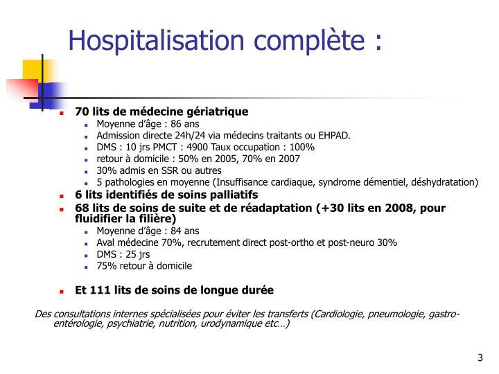 Hospitalisation compl te