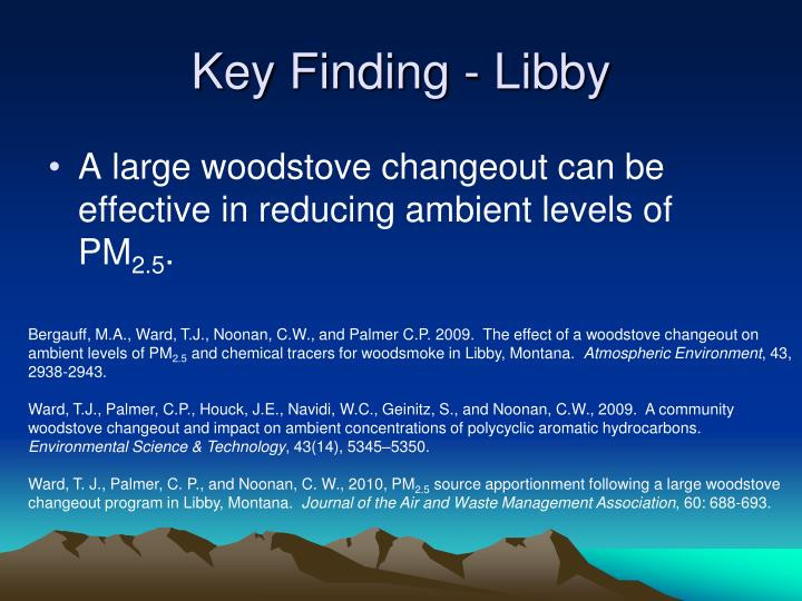 Key Finding - Libby