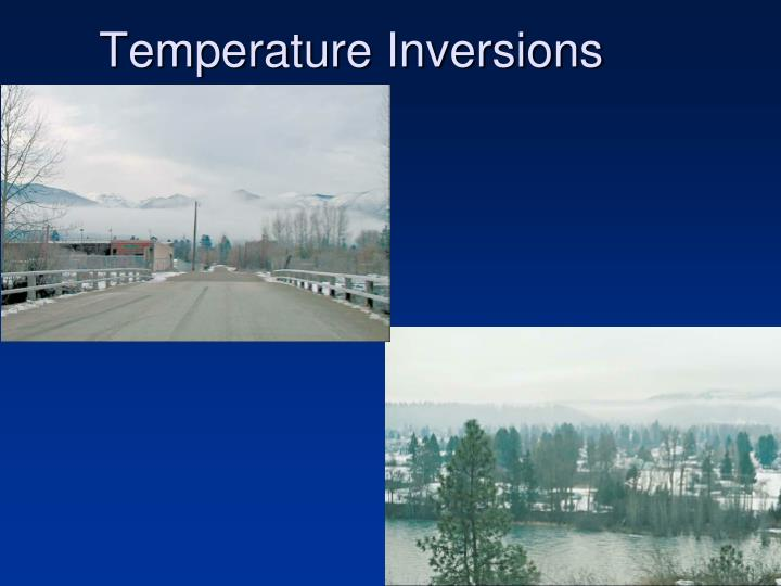 Temperature Inversions