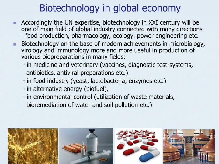 Biotechnology in global economy
