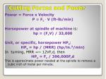 cutting forces and power1
