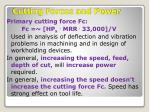 cutting forces and power3