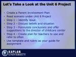 let s take a look at the unit 6 project