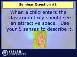 seminar question 1