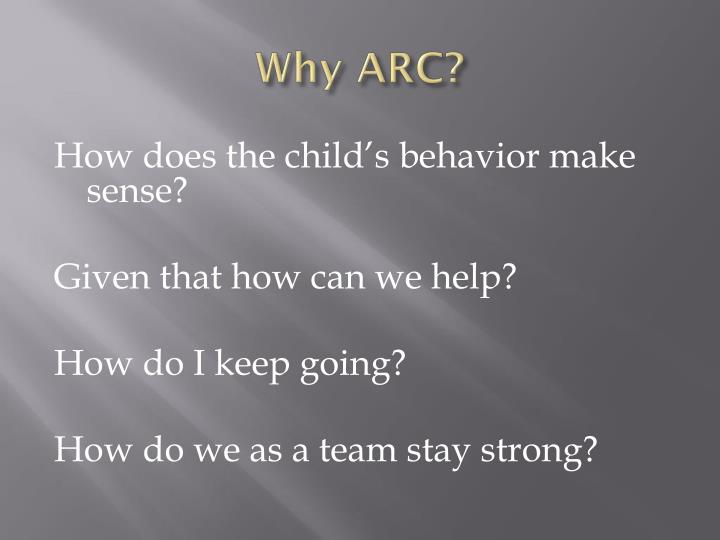 Why arc