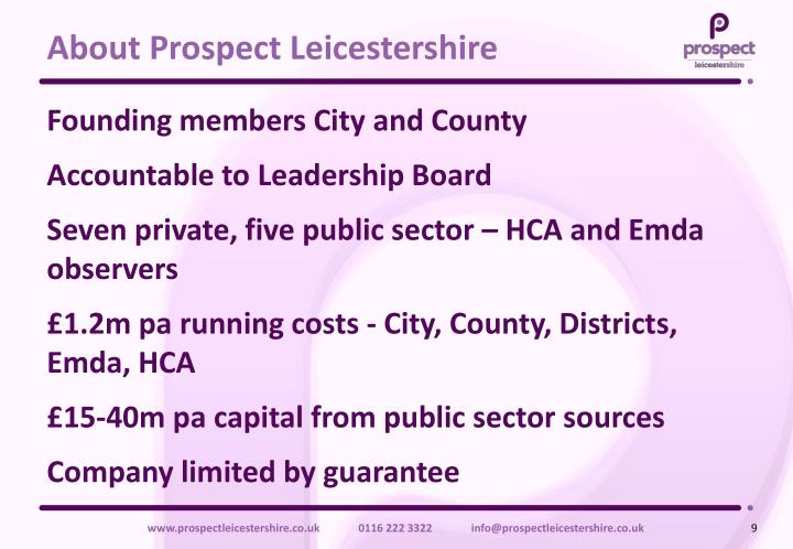 About Prospect Leicestershire