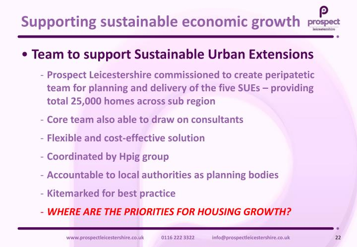 Supporting sustainable economic growth