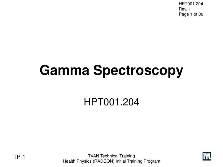 gamma spectroscopy n.