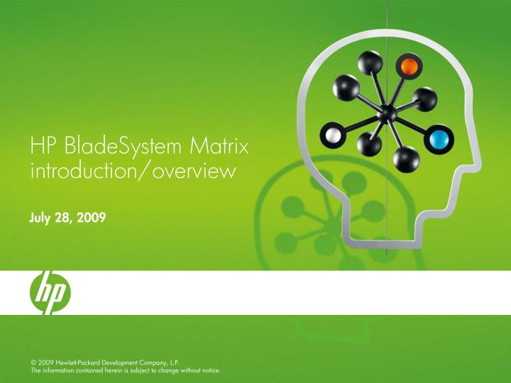 hp bladesystem matrix introduction overview n.