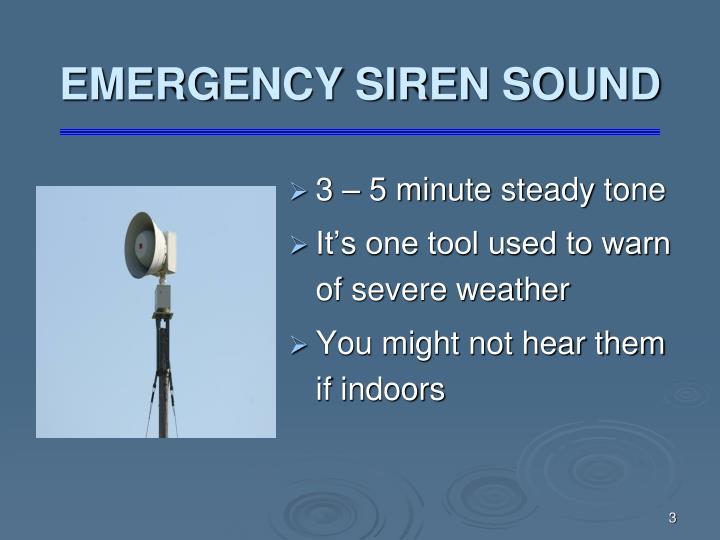 Emergency siren sound