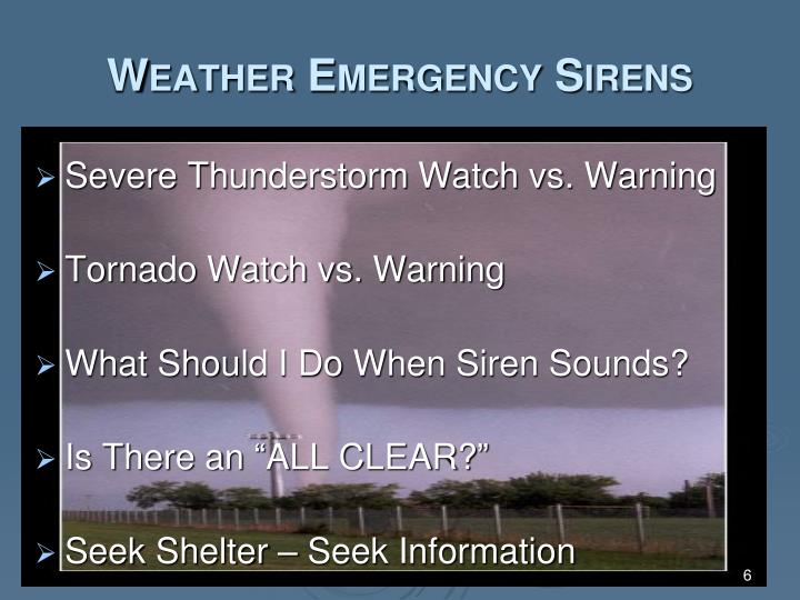 Weather Emergency Sirens