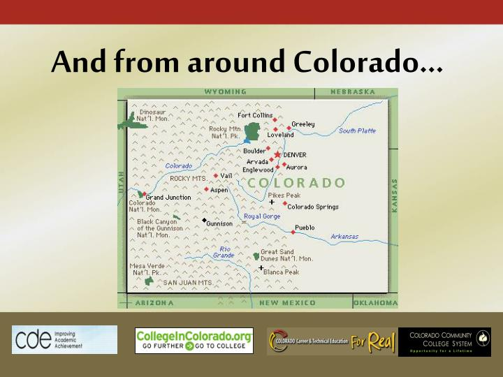 And from around Colorado…