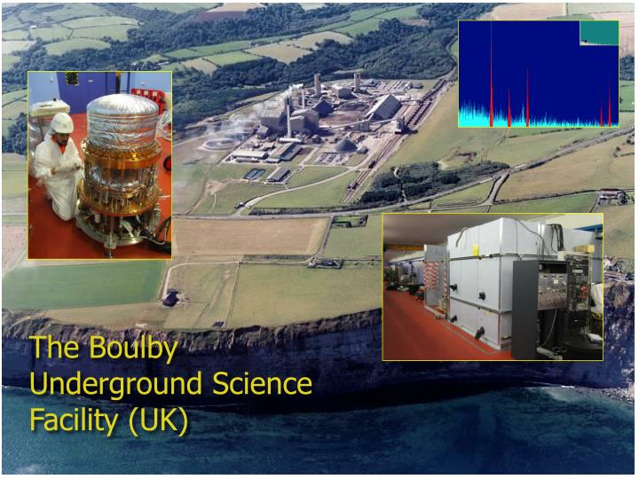 The Boulby Underground Science Facility (UK)