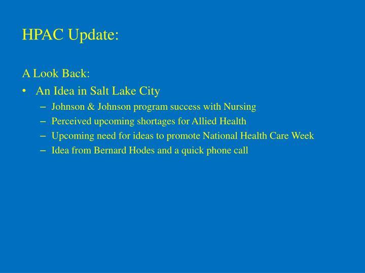 Hpac update