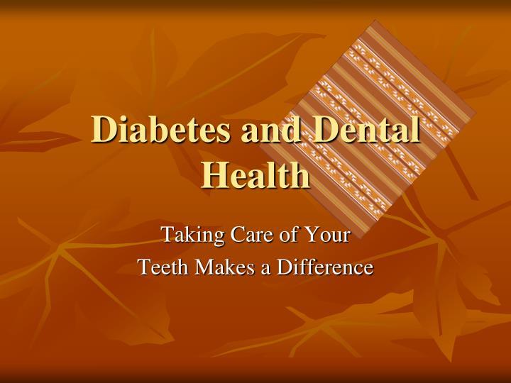 diabetes and dental health n.