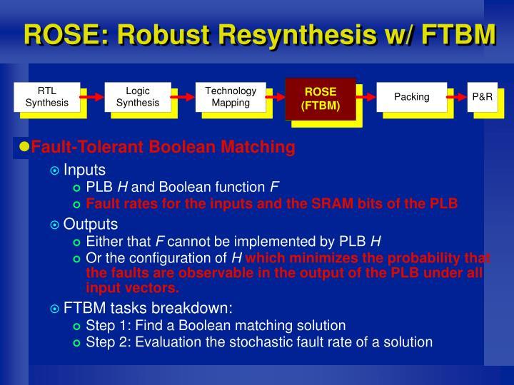 ROSE: Robust Resynthesis w/ FTBM