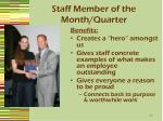 staff member of the month quarter