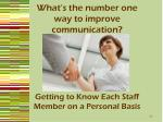 what s the number one way to improve communication