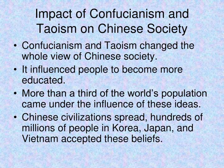 Impact of Confucianism and Taoism on Chinese Society