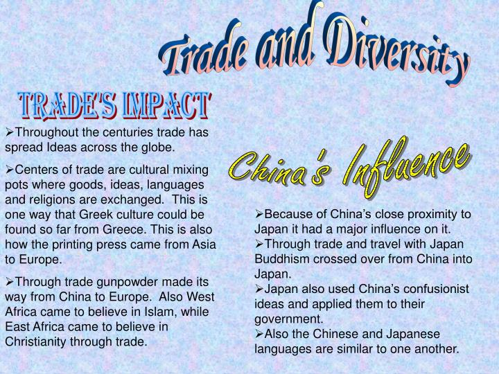 Trade and Diversity