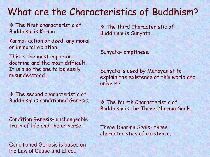 What are the Characteristics of Buddhism?