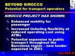 beyond sirocco potential for transport operators