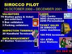sirocco pilot 16 october 2000 december 2001