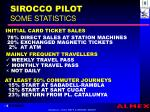 sirocco pilot some statistics