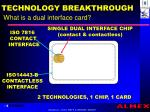 technology breakthrough what is a dual interface card