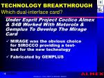 technology breakthrough which dual interface card