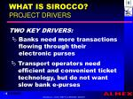 what is sirocco project drivers
