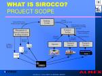 what is sirocco project scope