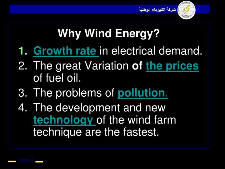 Why Wind Energy?