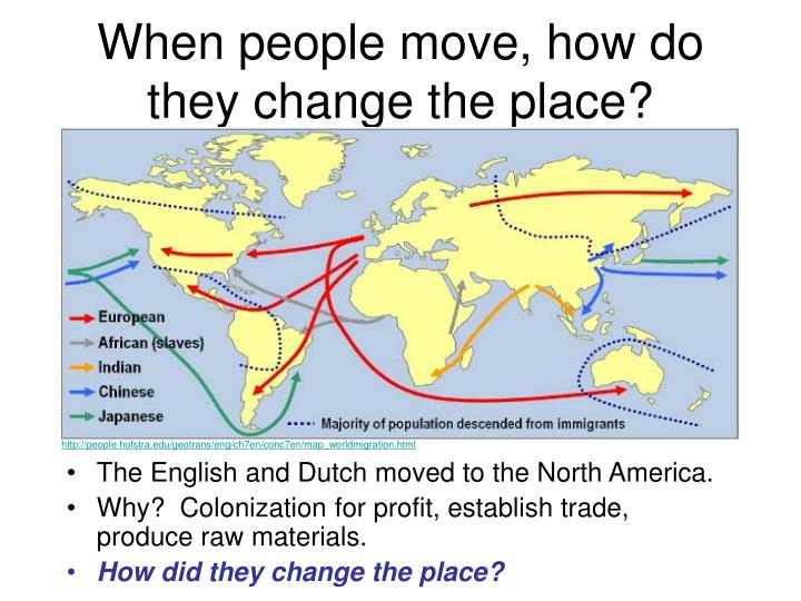When people move, how do they change the place?
