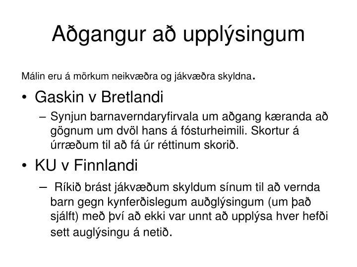 Aðgangur að upplýsingum