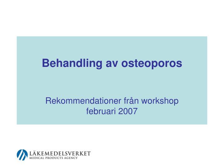 behandling av osteoporos n.