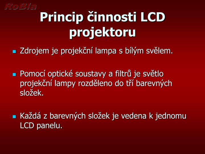 Princip innosti lcd projektoru