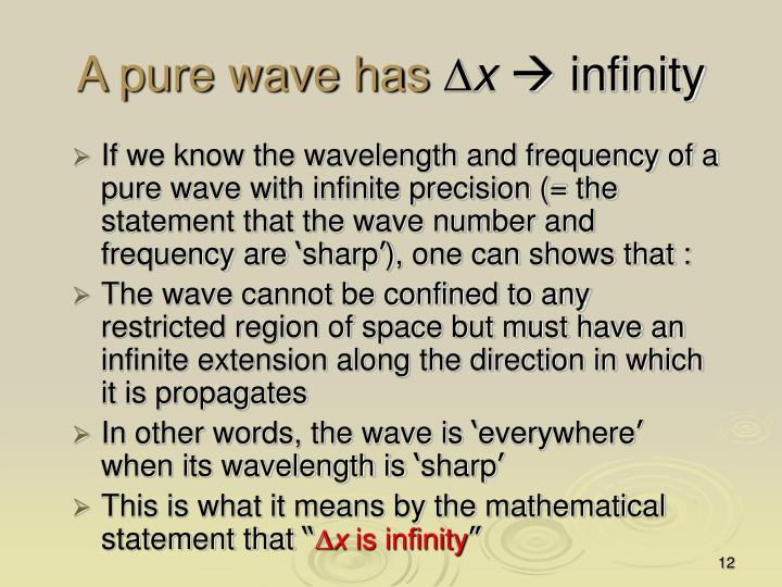 A pure wave has