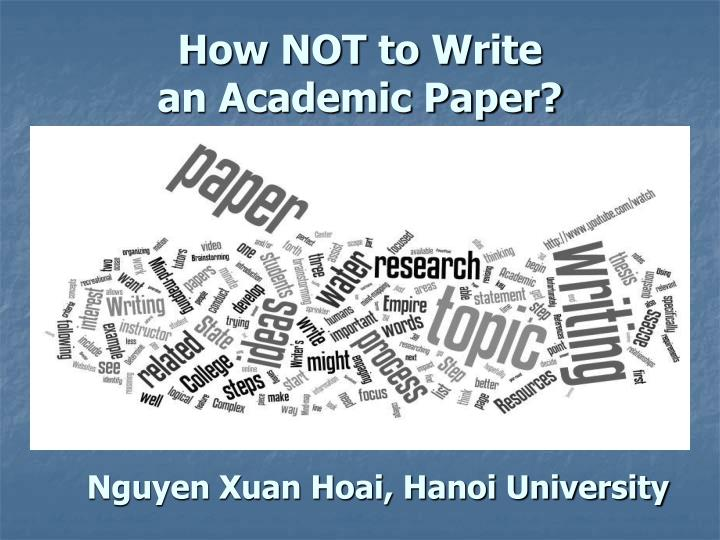 How not to write an academic paper