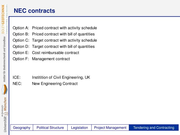NEC contracts