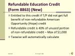 refundable education credit form 8863 new