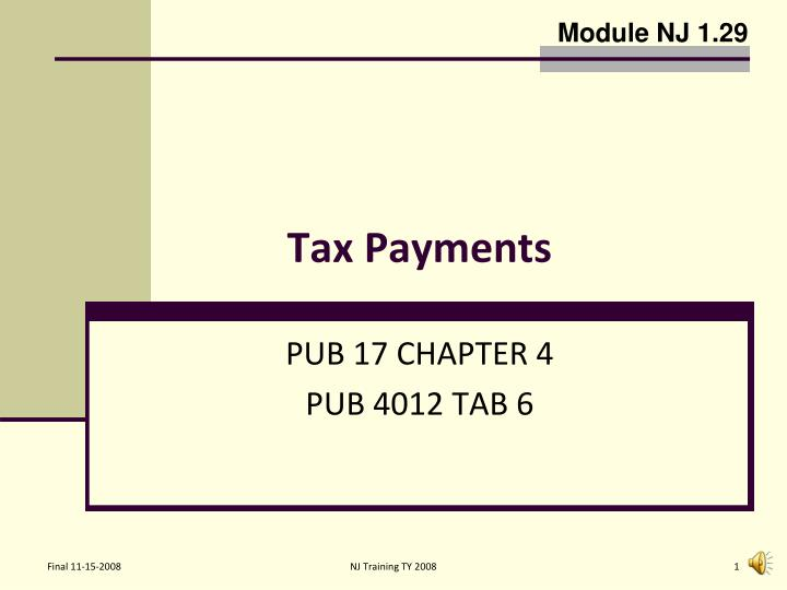 tax payments n.