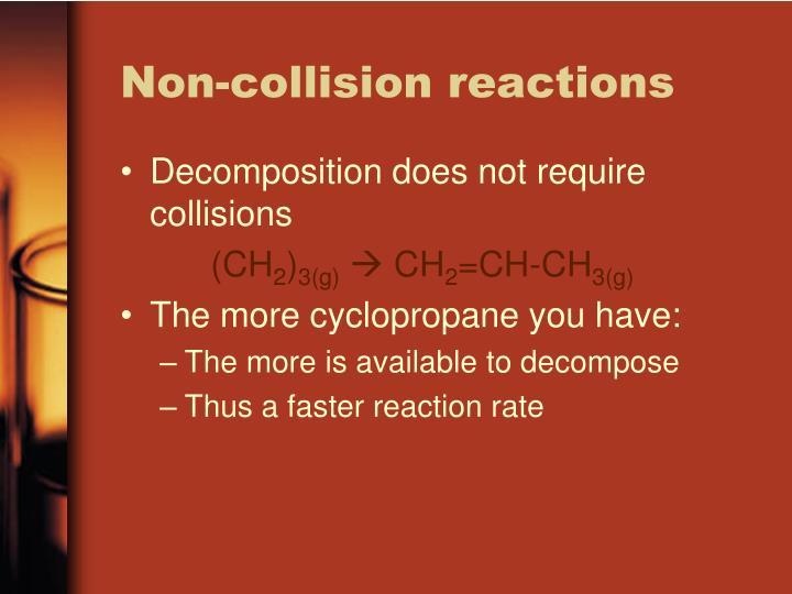 Non-collision reactions