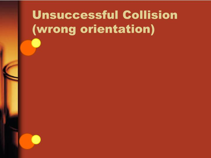 Unsuccessful Collision (wrong orientation)